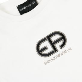 Embroidered Logo T Shirt Ivory