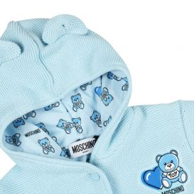 Blue Knitted Teddy Jacket