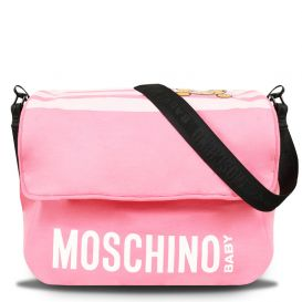 Pink Stripe Teddy Changing Bag