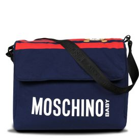 Navy & Red Stripe Teddy Changing Bag