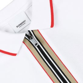 Mini Samuel Zip Polo Shirt White