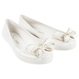Sweet Love Bow Shoes White