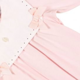Bow Detail Romper Pink