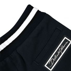 Striped Branded Joggers Navy