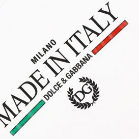 Made In Italy Logo T Shirt White