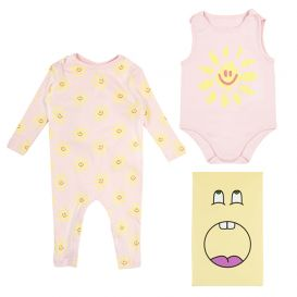 2 Pack Sunshine Rompers Pink