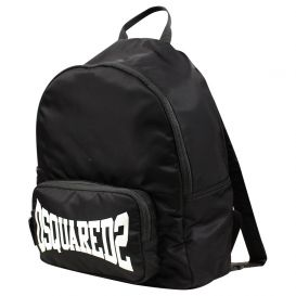 Black Logo Stretch Backpack