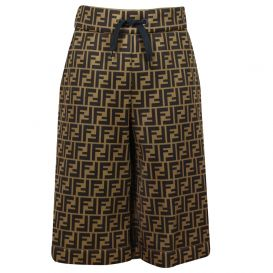 Boys FF Bermuda Tie Shorts Brown