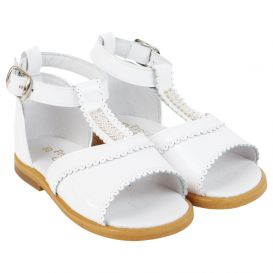 Pretty Originals White Scalloped Sandals