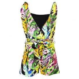 Jungle Print Playsuit Green