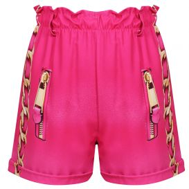 Fuschia Pink Chain Shorts