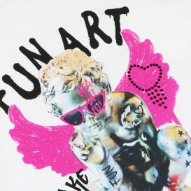 Girls Fun Art T Shirt Off White