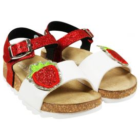 Strawberry Sandals White & Red