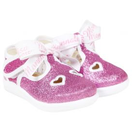 Glitter Bow Shoes Pink