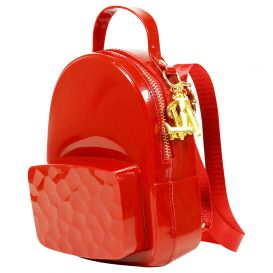 Red PVC Backpack