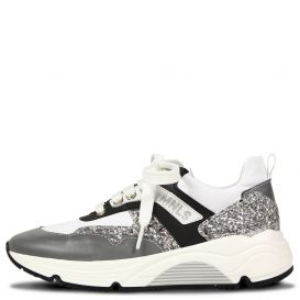 Glitter Grey Trainers White