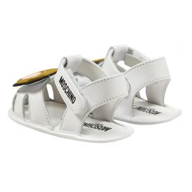 White Teddy Sandals