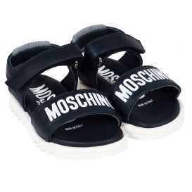 Infant Navy Logo Sandals