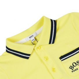 Baby Pocket Detail Short Sleeve Polo Shirt Yellow