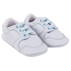 Baby Leather Pre-Walker Trainers Blue