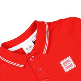 Cotton Short Sleeve Baby Polo Shirt Red