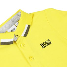 Contrast Trim Baby Polo Shirt Yellow