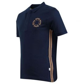 Side Stripe Polo Shirt Navy