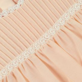 Lace Trim Baby Dress Pink