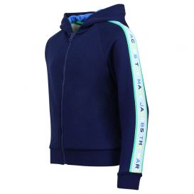 Logo Tape Navy Zip Up