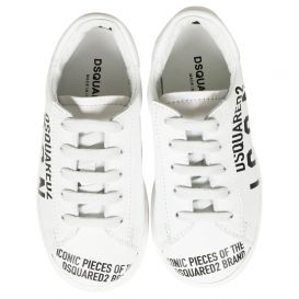 Logo Print Trainers White