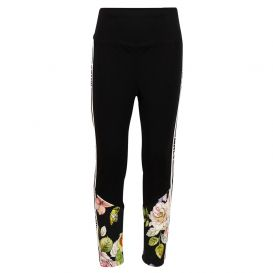 Black Floral Jersey Leggings
