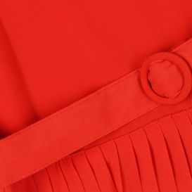 Pleated Jumpsuit Red