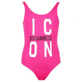 Pink Logo Swimsuit