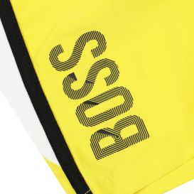 Side Logo Yellow & Black Swim Shorts