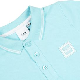 Blue Cotton Baby Polo Shirt