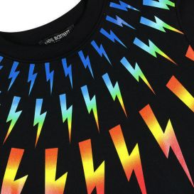 Rainbow Thunderbolt Black Sweatshirt