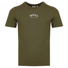 Slim Fit Small Logo Khaki T Shirt