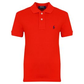 Small Chest Logo Red Polo Shirt
