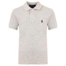 Small Chest Logo Grey Polo Shirt