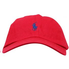 Embroidered Logo Red Cap