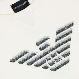 Embroidered Eagle Off White Sweatshirt