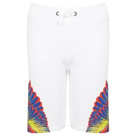 Contrast Wings White Shorts