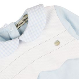 Blue & White Scalloped Detail All In One