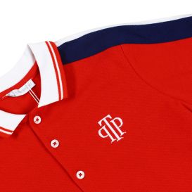 Red Polo & Shorts Set