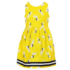Dalmatian Print Yellow Dress