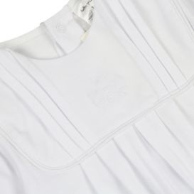White Pleated Detail All In One