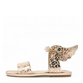 Pink Copper Animal Print Sandals