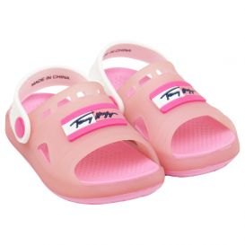 Pink & White Open Toe Sandals