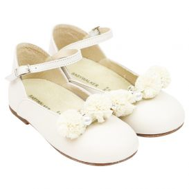 Ivory Pearls Ballerina Shoes