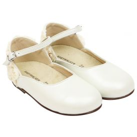 Ivory Flower Detail Shoes
